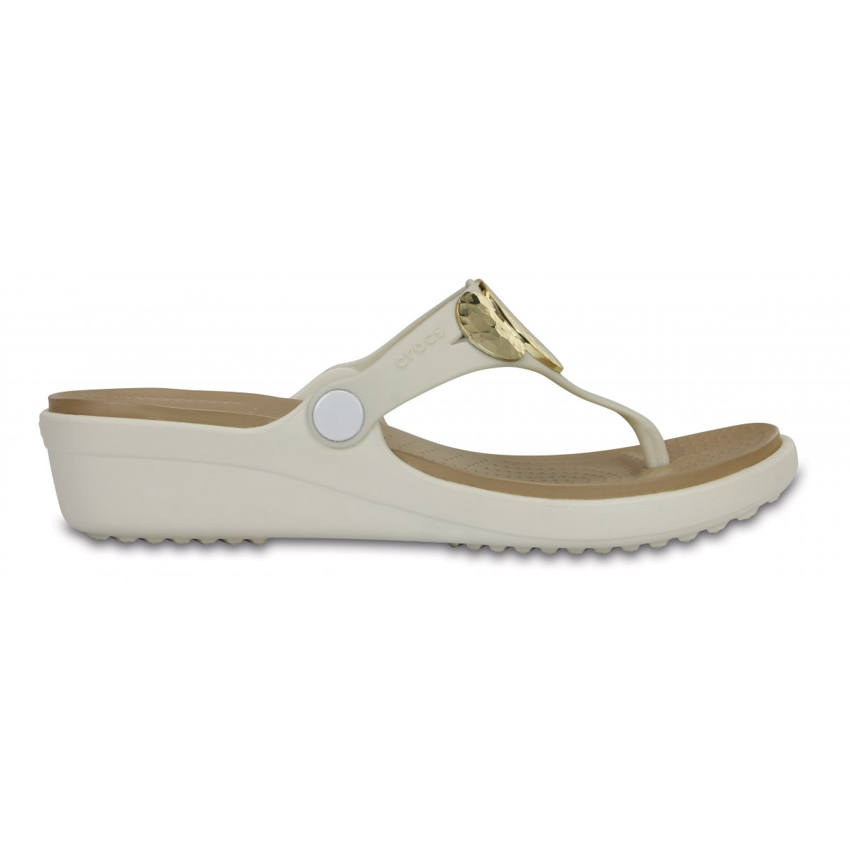 2cc3ae6e9b64 Crocs Sanrah Embellished Wedge Flip W CR.204009-OYGO - ParagonShop