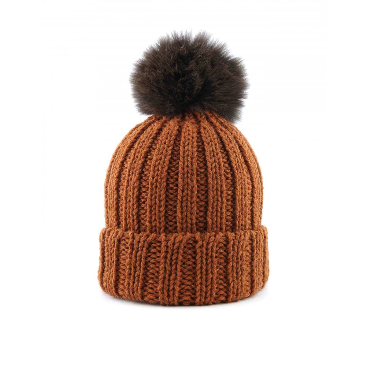 Wool Hat With Fox Fur Pompon - Hats   Scarves Canadian Women 61386ab05