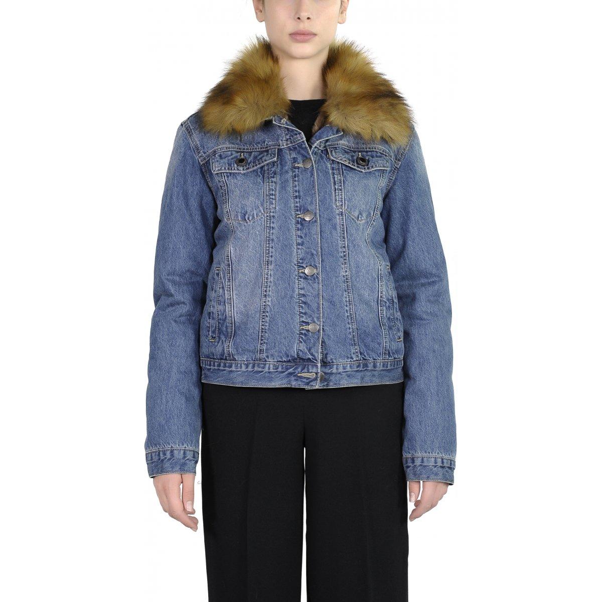 wholesale dealer 152b2 f6c2b Giacca Donna Shelburne Denim Ecopelliccia - denim Canadian Women