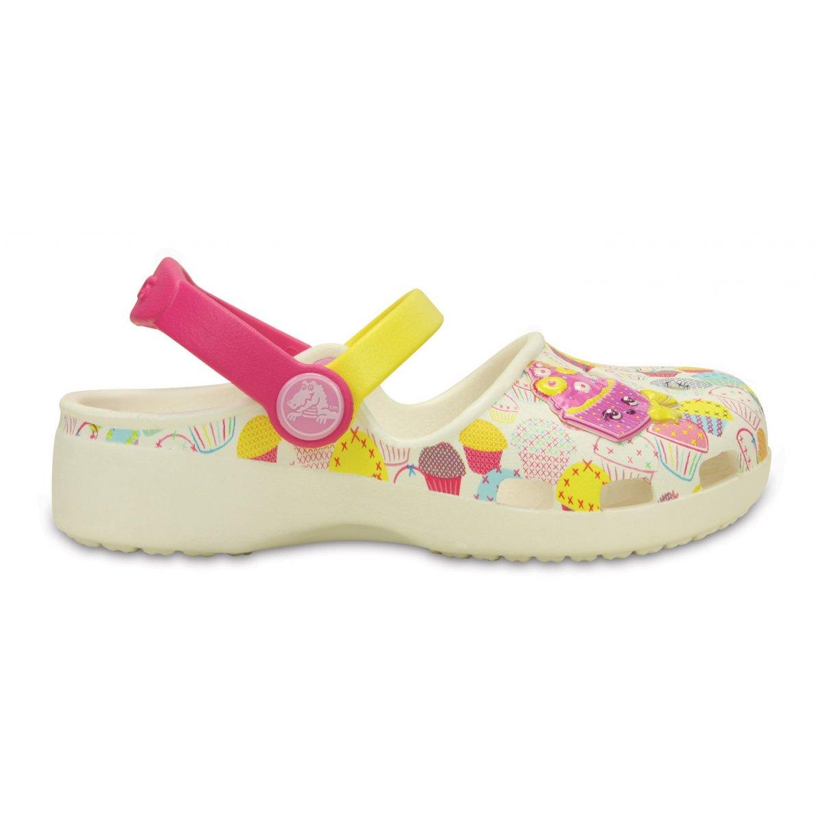 Sandali festa rosa per bambina Crocs Colorblock F0PZF3Q