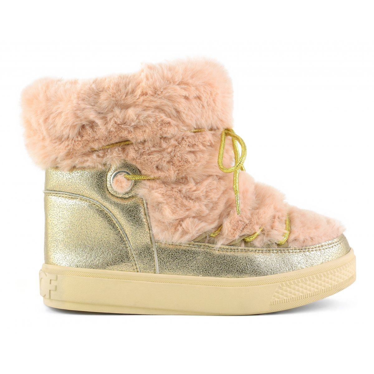 Snow boots in faux fur and laminated finishes Snowboots