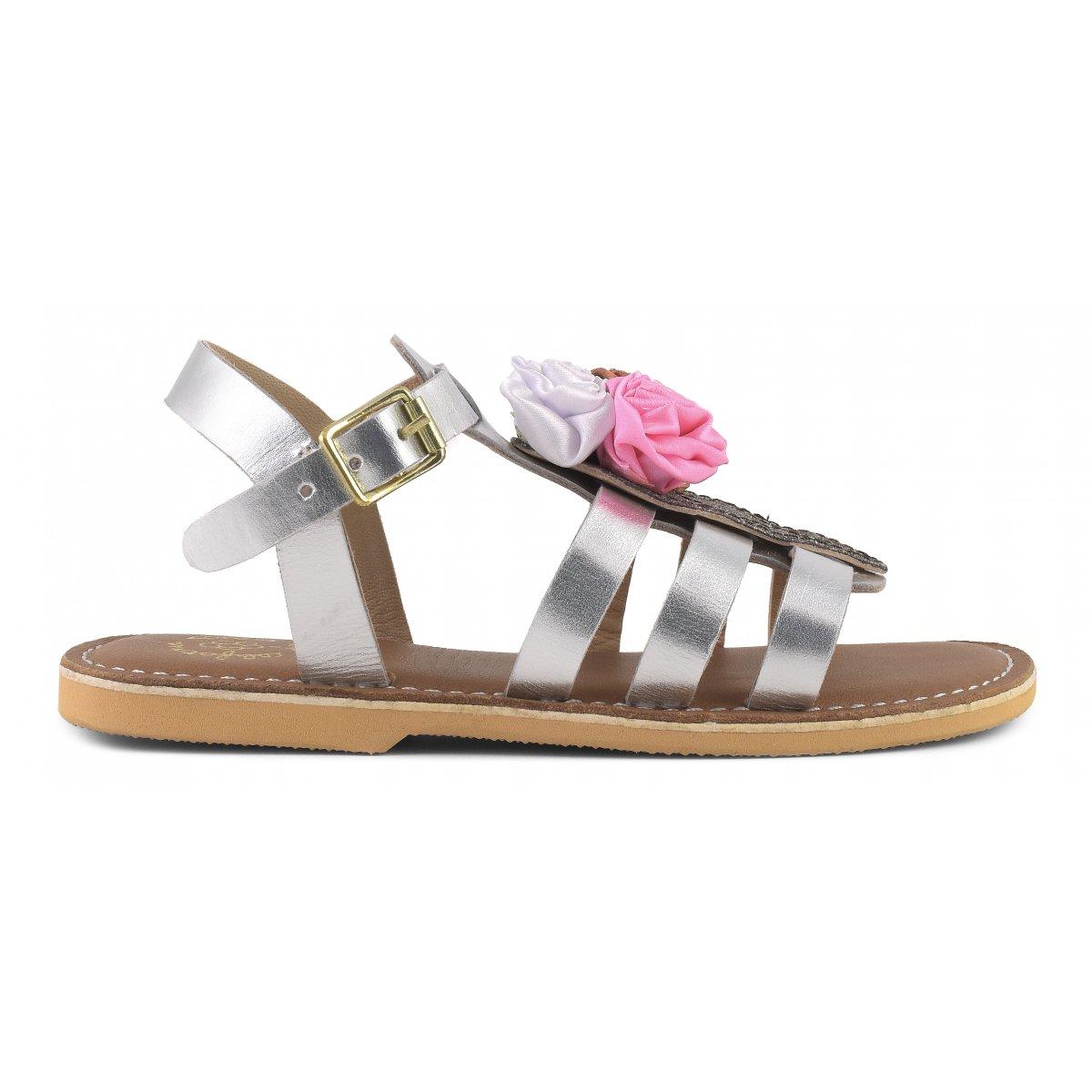 Sandali ragnetto in pelle con accessorio gelato