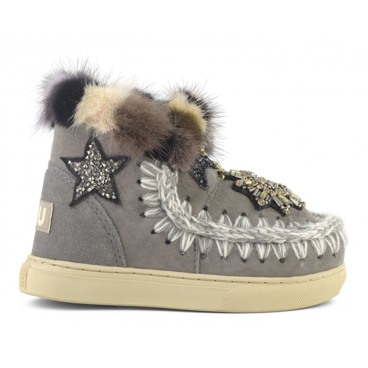 eskimo sneaker kid star patches \u0026 mink