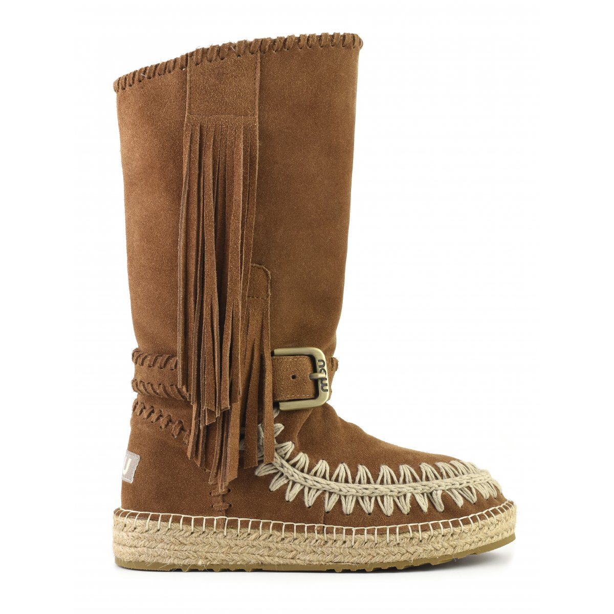 Indian Boot Jute Suede in Cog from mou