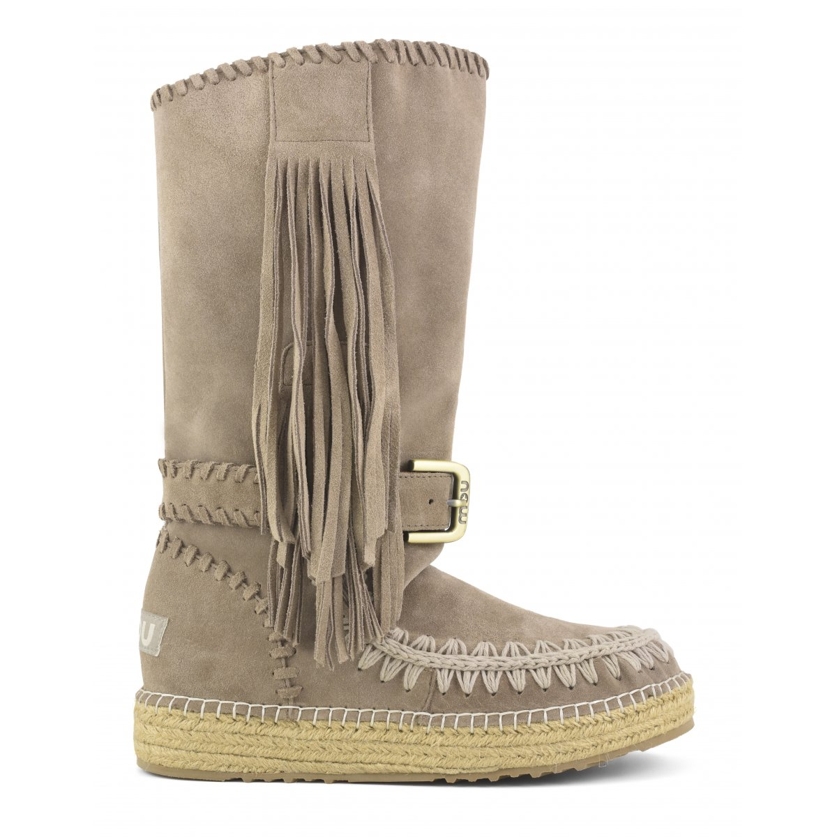 Indian Boot Jute Suede in Dkst from mou