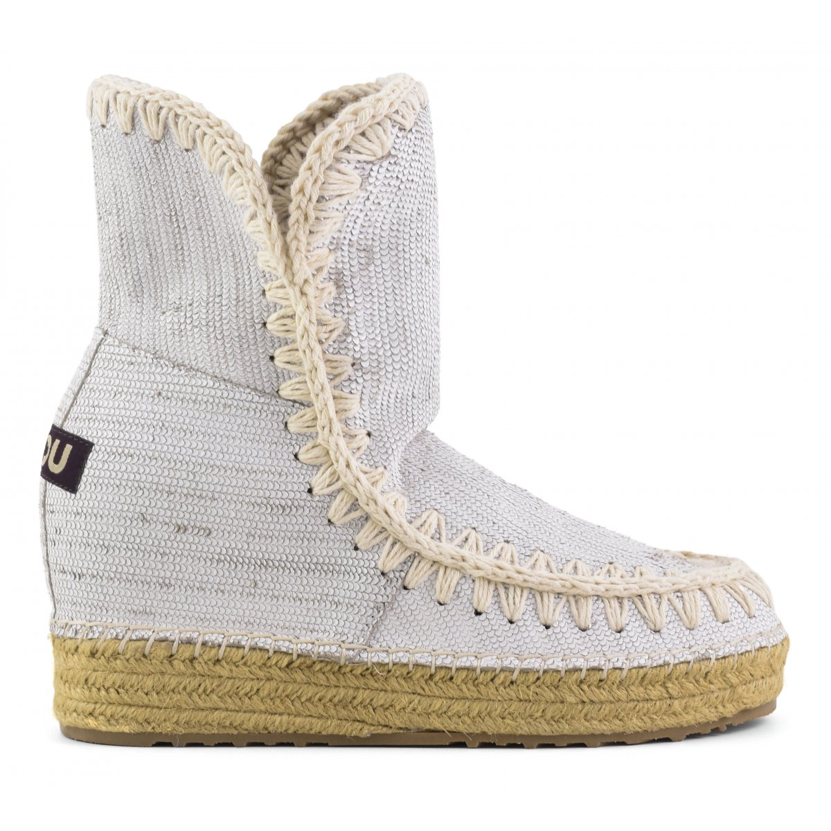 Eskimo Jute Inner Wedge Special Leather in Whi from mou