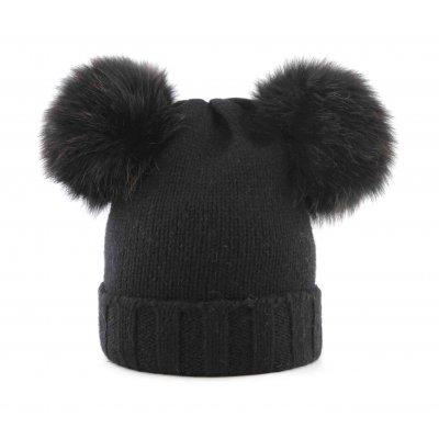Cappello Doppio Pom Volpe