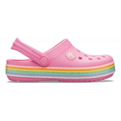 Crocband™ Rainbow Glitter Clog K