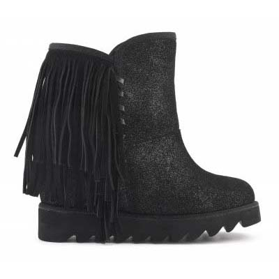 Ugg boot inner wedge with frin