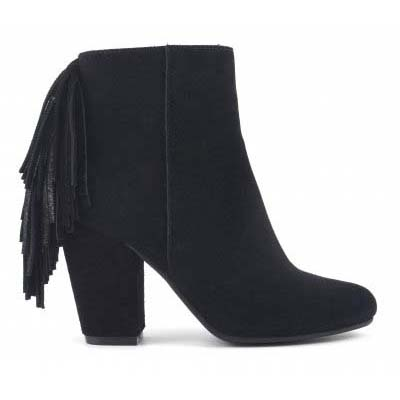 Heel bootie in suede with back