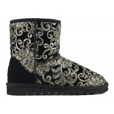 Ugg Boot mini in velvet embroi