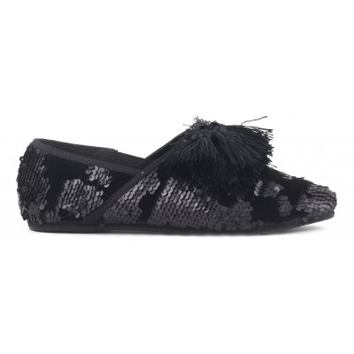 sequins Slippers with tassels