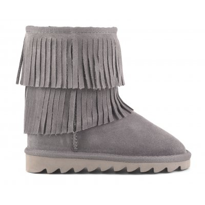 Ugg Low Boot In Suede With Fringes