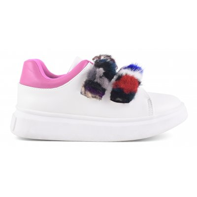 Fur stripes sneakers
