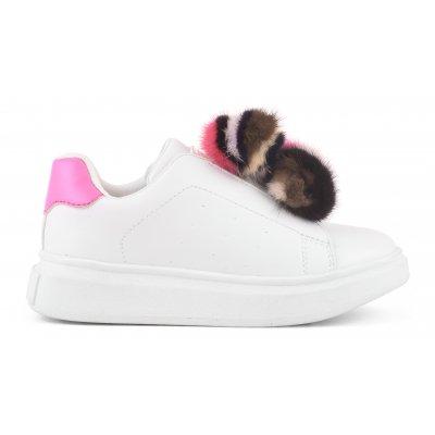 fur pom sneaker