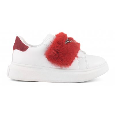 fur sneaker with star patch