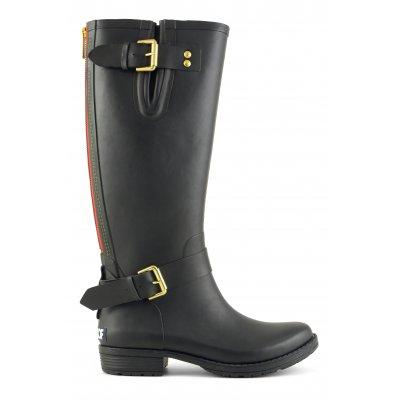 Stivale pioggia alto in gomma con zip laterale