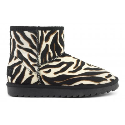 Ugg in pelle stampa animalier