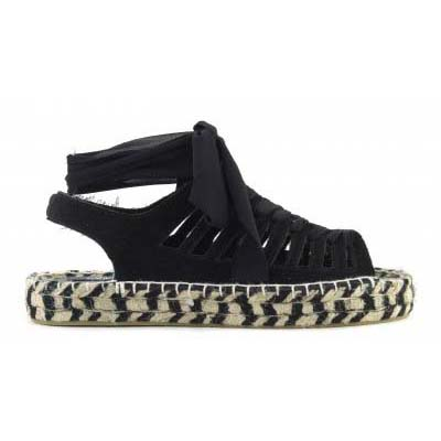 Espadrille in leather with lyc