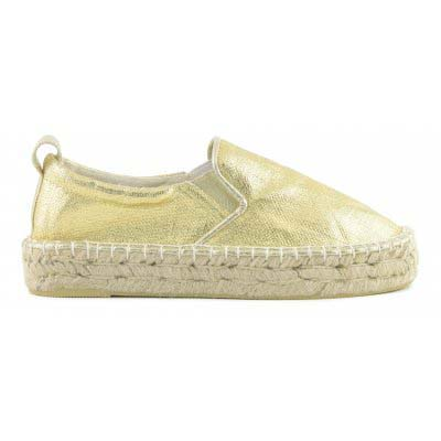 Double sole Espadrille in lami