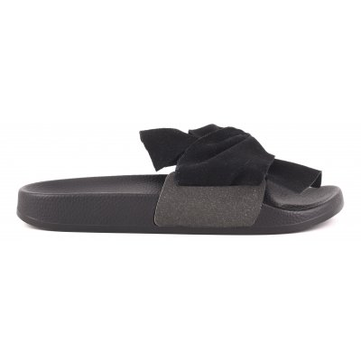 Eva slipper with leather upper