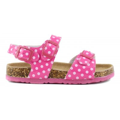 Bio sandals with dots glossy print