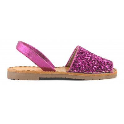 Minorca sandals in glitter