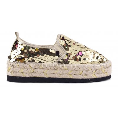 Espadrilles in maxi sequins