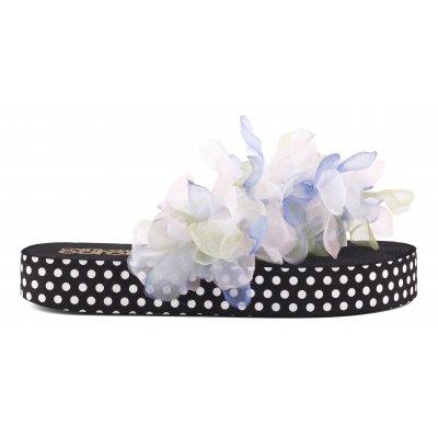 Flip flops suola platform con accessorio floreale