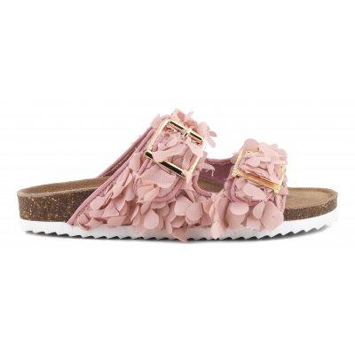 Bio sandals in floreal fabric