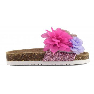 Sandali bio fascia con fiori