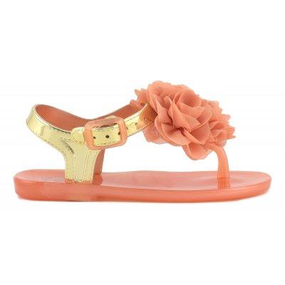 Sandali in PVC con accessorio floreale