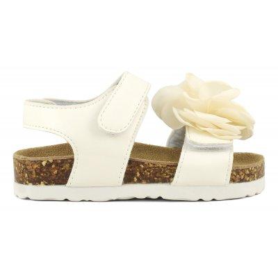 Sandali bio con fiore piccolo