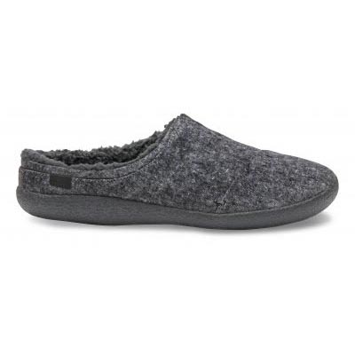 Grey Slub Textile Berkeley Slipper Men