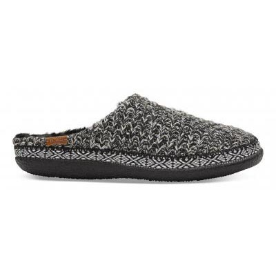Black White Sweater Knitted Slipper Women
