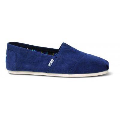 Navy Canvas Male Classic Alpargata