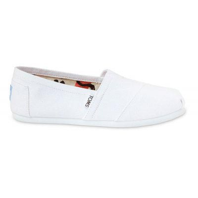 Optic White Canvas Alpargata Women