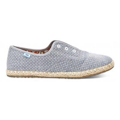 Chambray Dot Slip On Women