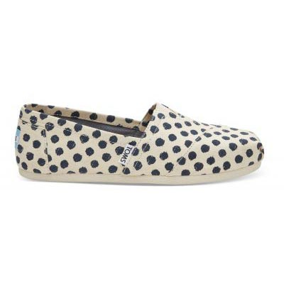 Natural Navy Polka Dot Alpargata Women