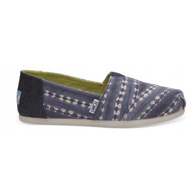 Navy Batik Stripe Alpargata Women