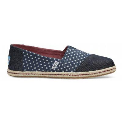 Navy Denim Stars Alpargata Women