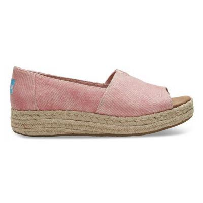 Coral Washed Twill Open Toe Women