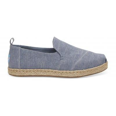 Blue Slub Chambray Deconstructed Alpargata Women