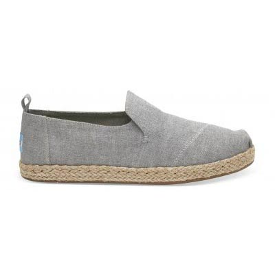 Drizzle Grey Slub Chambray Deconstructed Alpargata Women