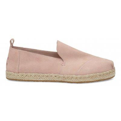 Pale Pink Suede Deconstructed Alpargata Women