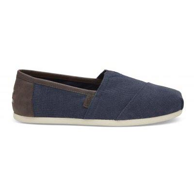 Navy Washed Canvas Trim Alpargata Male