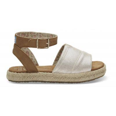 Pale Gold Shimmer Youth Malea Sandals