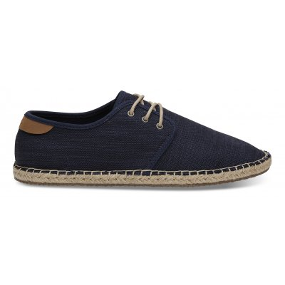 Navy Slubby Cotton Rope Diego M