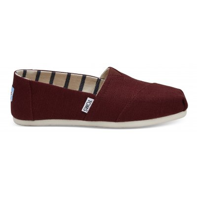 Black Cherry Heritage Canvas Alpargata W