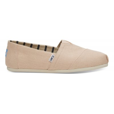 Pale Peach Heritage Canvas Alpargata M